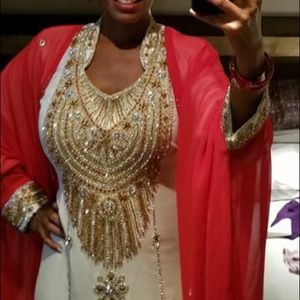 Beautiful galabeya with sheer robe. for sale